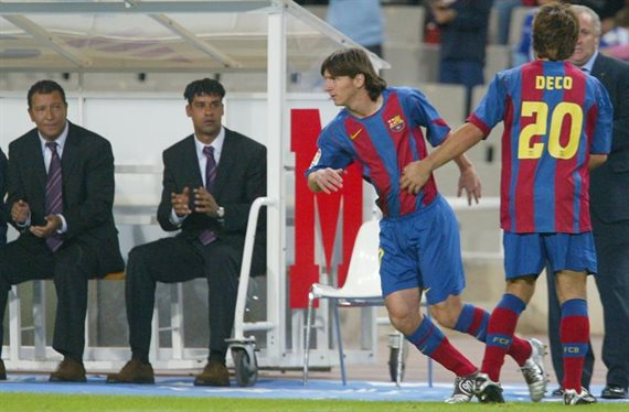 Se cumplen 15 años del debut de Lionel Messi en Barcelona