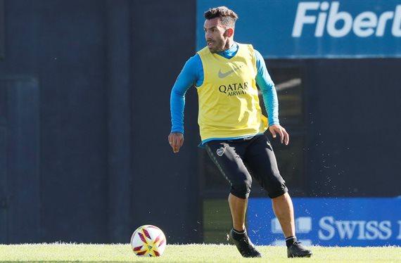 Alerta en Boca: Carlos Tevez volvió a entrenar de manera diferenciada