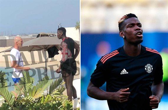 ¡Zidane se reúne con Pogba! Y hay fotos. ¡Ojo al mensaje bomba!