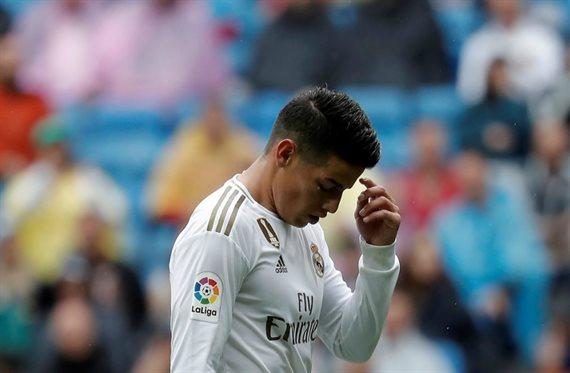 James Rodríguez paga los platos rotos del partido ante el Mallorca