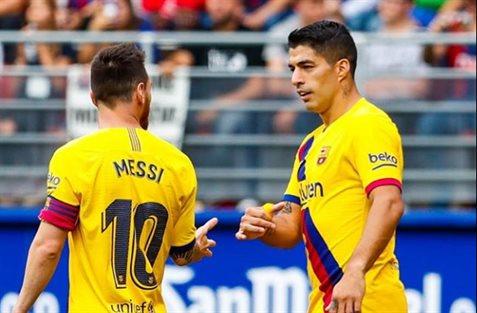 Leo Messi y Luis Suarez entre risas: no vale ni para el Alcoyano