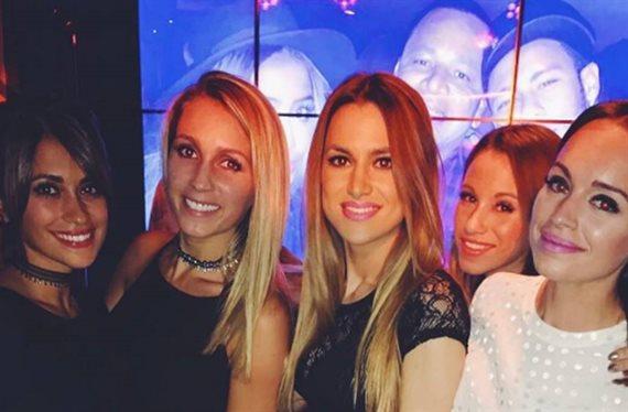 Antonella pillada mientras Messi jugaba en Tel Aviv con tres hombres