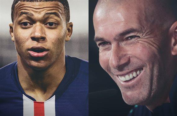 ¡Ojo a lo que le ha dicho Zinedine Zidane a Mbappé hoy antes del partido!