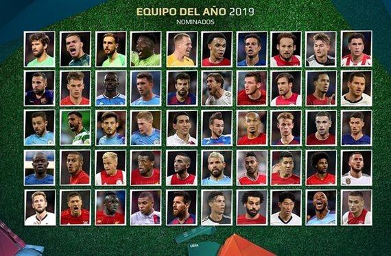 Cuatro argentinos fueron nominados a integrar el Equipo del Año de la UEFA