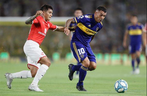 Boca empató 0-0 con Independiente y no logró aproximarse a River