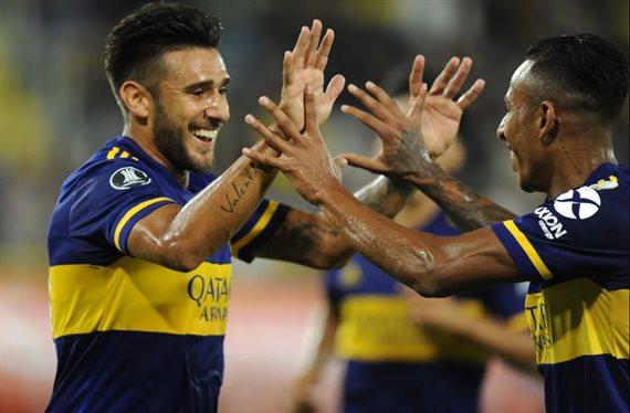 Boca extendió las celebraciones a la Copa Libertadores y venció 3-0 al DIM