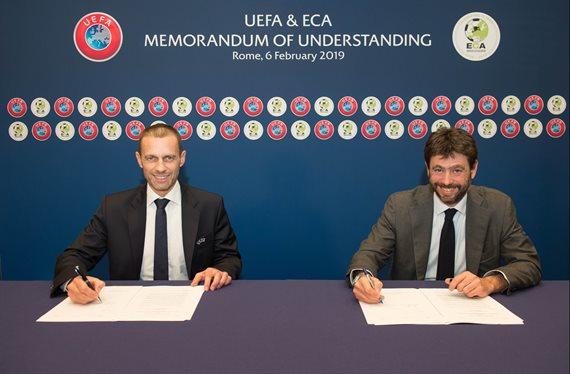 El acuerdo entre UEFA y ECA para resolver el futuro del fútbol europeo