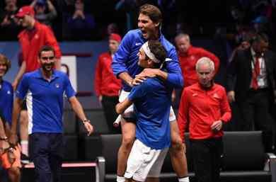 Un gran Federer,con un animador de lujo llamado Rafa Nadal, deja la Laver cup en europa