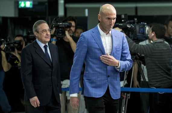 Florentino Pérez controla un relevo inesperado para Zinedine Zidane en el Real Madrid