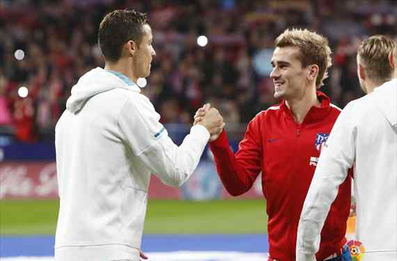 Cristiano Ronaldo le lanza una confesión brutal a Griezmann tras el Atlético - Real Madrid
