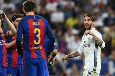 La nueva guerra entre el Barça y el Real Madrid pone a Ramos y Piqué en el punto de mira