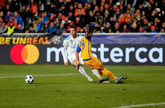 Cristiano Ronaldo se carga a un crack de Zidane tras la victoria del Real Madrid ante el APOEL