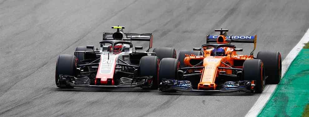 Tras un fin de semana envuelto en polémica con un piqué con el piloto de Haas en la clasificación, Kevin Magunssen, que dio la vuelta al globo, Alonso firmó un nuevo ridículo con McLaren.