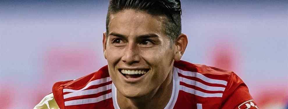 El tapado que quiere llevarse a James Rodríguez del Bayern en el mes de enero