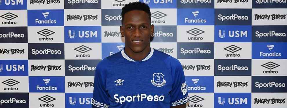 Al ex defensa colombiano del Barça Yerry Mina no le están salliendo las cosas todo lo bien que esperaba en las filas de un Everton al que se incorporó este mismo verano