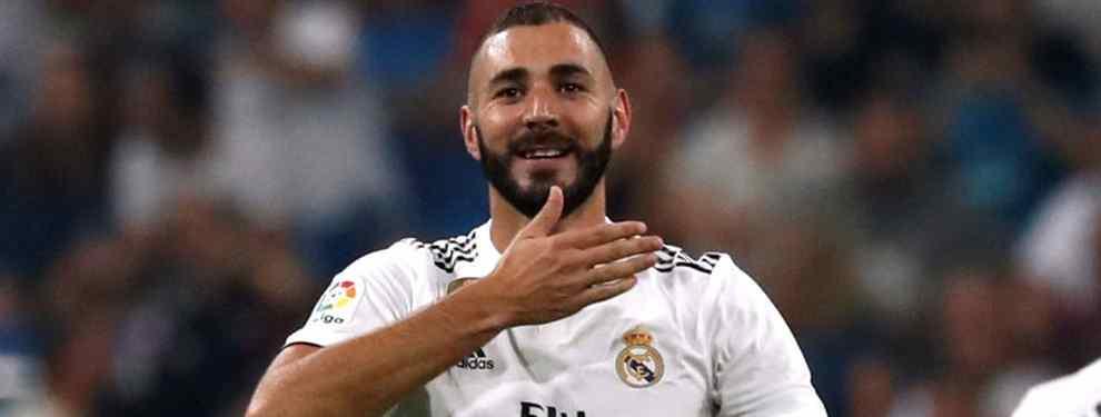Karim Benzema pasa por el despacho de Florentino Pérez. El delantero francés tiene tres ofertas para dejar el Real Madrid en enero, y tiene claro lo que pide para seguir.