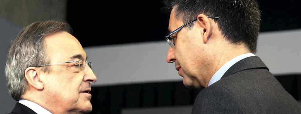 Florentino Pérez quiere pescar en el mercado de invierno un figura. El presidente del Real Madrid tiene, en este sentido, varios frentes abiertos que colisionan frontalmente con el Barcelona