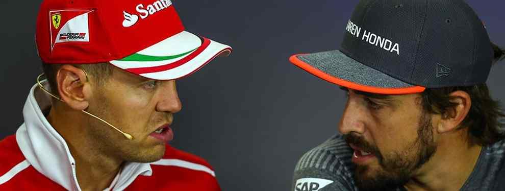 Humillan a Vettel con Fernando Alonso (y en Italia)
