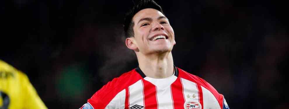 Hirving Lozano, el delantero mexicano del PSV a quien sitúan muy insistentemente en la órbita del Barça de Leo Messi, ya tiene precio de salida para dejar el conjunto holandés