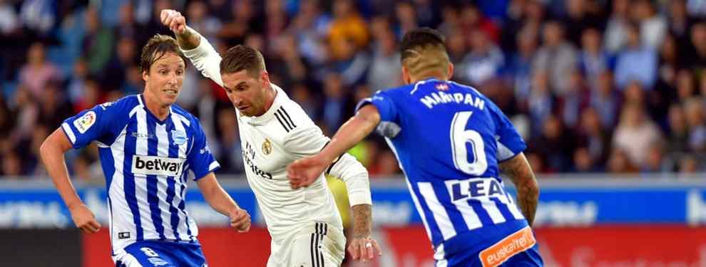 El Real Madrid no pudo pasar del empate ante el Alavés y ya van cuatro partidos seguidos sin marcar un gol. Sergio Ramos explota al acabar el encuentro en Mendizorroza.