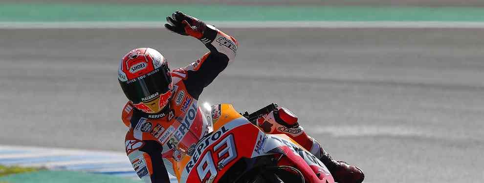 El piloto de Honda se mete en e bolsillo el Mundial tras levantarle el triunfo de Andrea Dovizioso en la última curva del GP de Tailandia. Un mano a mano apoteósico que encumbra al español como el mejor de la temporada.