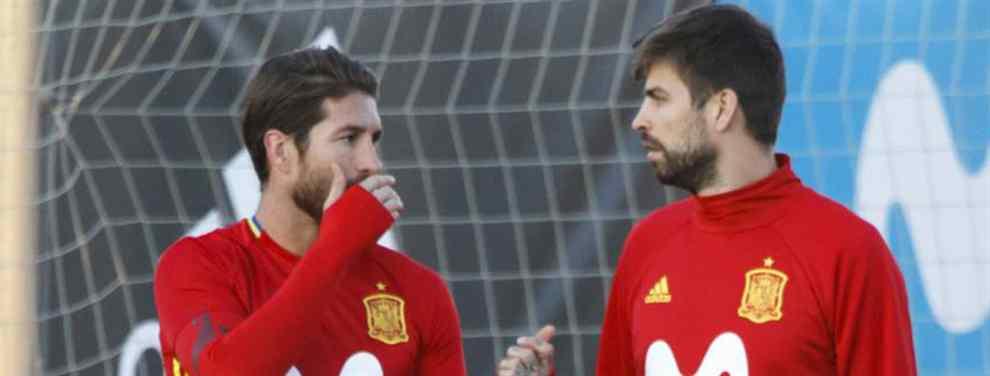 Sergio Ramos se lo dice a Piqué: la última locura de Florentino Pérez en el Real Madrid