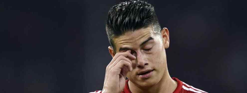 ¡Vaya palos! Bestial rajada contra James Rodríguez de una estrella del Bayern