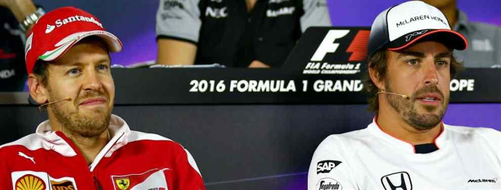 La prensa italiana una comparativa entre Sebastian Vettel y Fernando Alonso que destroza al piloto germano y que ha desatado una batalla campal en el entorno de la F1.