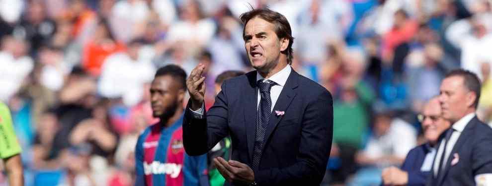 Florentino Pérez tiene tres opciones sobre la mesa para cargarse a Julen Lopetegui. Tres nombres galácticos para ocupar el puesto del técnico vasco, ya sentenciado.