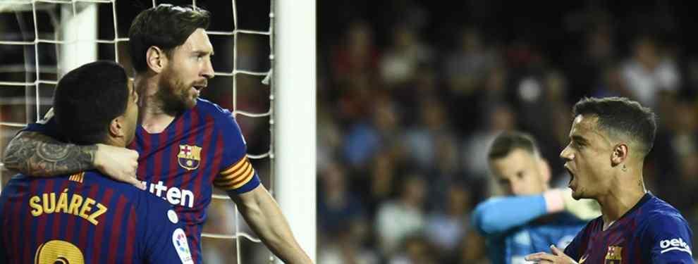 La lesión de Messi ha trastocado los planes del Barcelona. Es de esperar que cuándo un jugador se lesiona -y más si es el mejor del equipo- el entrenador tenga que hacer retoques, pero en el caso de Valverde existe un problema