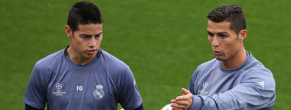 James Rodríguez está en el lío (y va de Cristiano Ronaldo): la bomba estalla en el Real Madrid