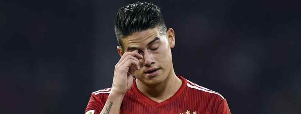 James Rodríguez tiene cinco ofertas para salir del Bayern (y una viene con morbo)
