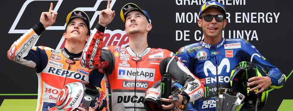 Jorge Lorenzo mueve ficha. El balear sabe que el próximo año su gran rival en MotoGP, y Honda, será Marc Márquez y dispara al catalán donde más le duele: peloteo a Valentino Rossi.