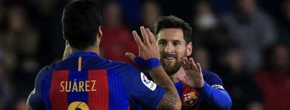 Messi salva el cuello de Luis Suárez: paraliza una llegada y acelera otra