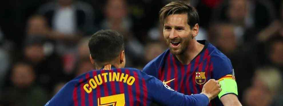 Cartas sobre la mesa. Malcom, como Dembélé, vive prácticamente en el ostracismo en el Barcelona.  El brasileño marcaba un gol clave contra el Inter y los significativo llegaba en la celebración