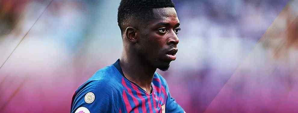 Dembélé monta un escándalo bestial fuera del Barça (y a Messi y compañía no tragan más)