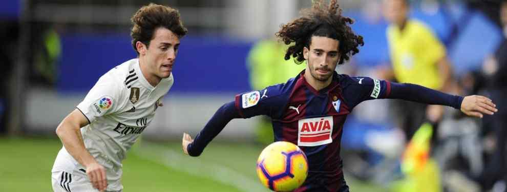 El jugador del Barça cedido al Eibar fue protagonista en cada gol que marcó su actual equipo, mostrando una gran capacidad de adaptación a una posición de extremo.