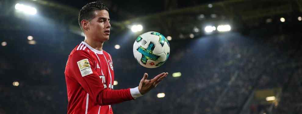 ¿Qué pasa con James Rodríguez? El colombiano del Real Madrid cedido al Bayern de Múnich quiere salir de Alemania hoy mejor que mañana. Y, en este sentido, una nueva puerta se abre.