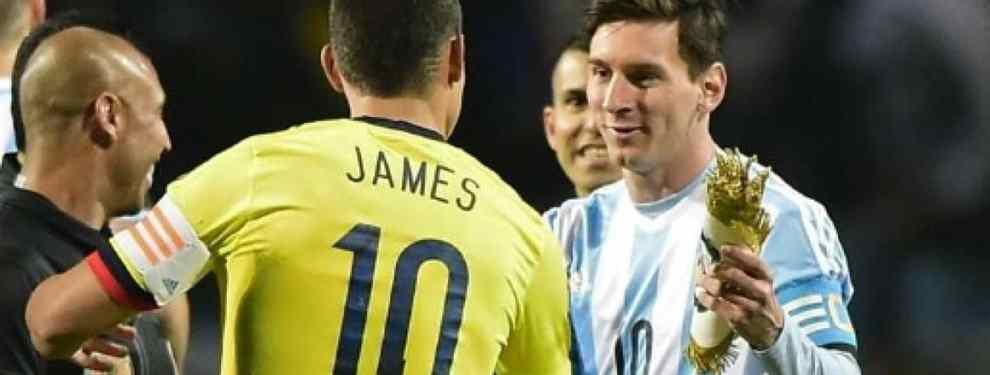 La bomba de James Rodríguez con el Barça de fondo (y Messi está en el lío)