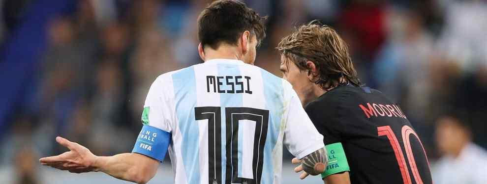 Leo Messi hizo lo que debía hacer con Luka Modric: felicitarle mediante mensaje privado. Pero también quiso dejar claro que su guerra, ahora, es otra y no el Balón de Oro.