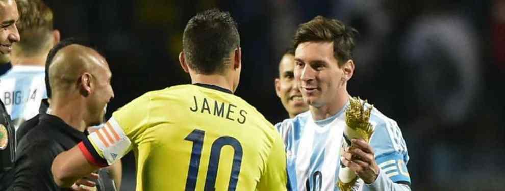 El amigo de Messi que Florentino Pérez quiere convertir en galáctico (y James Rodríguez, implicado)