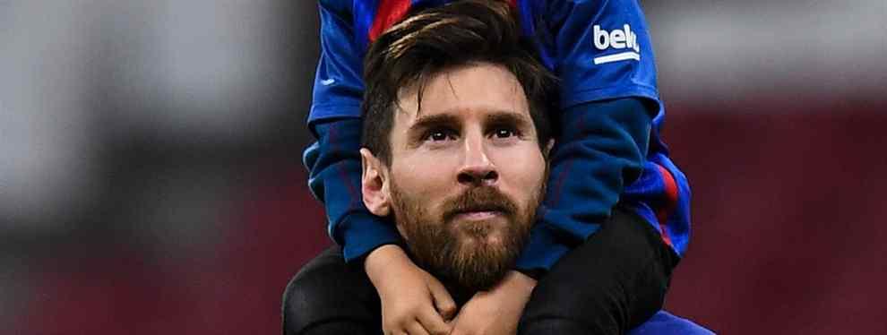 Leo Messi tuvo que ejercer de capitán antes del partido ante el Espanyol y calmar a uno de sus compañeros, quien estaba calentito al ver que Ernesto Valverde había vuelto a dejarlo como suplente.