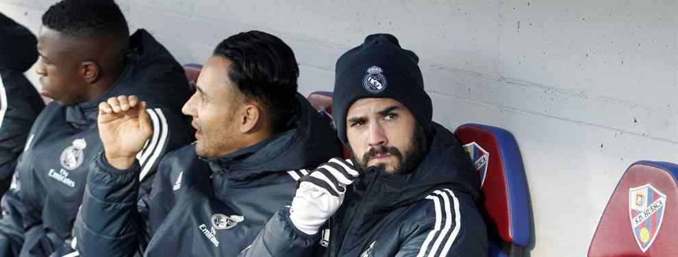 Isco Alarcón ya tiene preparadas las maletas. El malagueño tiene entre ceja y ceja salir del Real Madrid lo antes posible y su destino está prácticamente decidido.