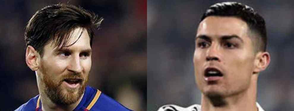 """Messi responde al reto de Cristiano Ronaldo (""""Vente a Italia"""") con un bombazo"""