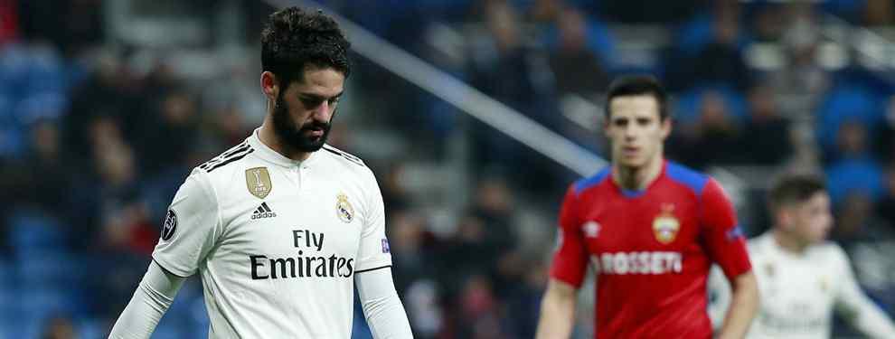 El adiós de Isco es cuestión de días. El jugador del Real Madrid ya ha hecho púbico su deseo de abandonar el barco, debido a la falta de minutos, y Florentino Pérez ya tiene una oferta sobre la mesa.