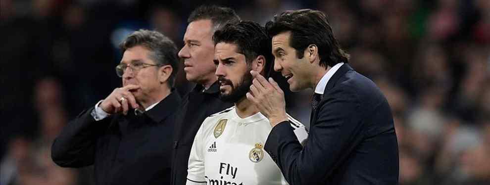 Lío muy feo con Isco: sale la basura en el Real Madrid (y Solari está metido hasta el cuello)