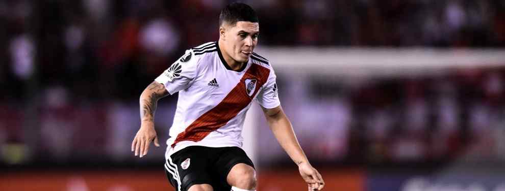 Juan Quintero puede acabar en España. El crack de River Plate, pretendido por equipos como el Atlético de Madrid o el Valencia, puede ser el refuerzo estrella de un equipo modesto.