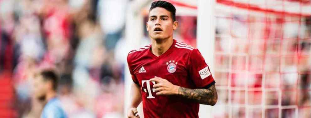 El futuro de James Rodríguez está cerca de concretarse. El astro colombiano tiene claro que quiere abandonar el Bayern y en Múnich no pondrán impedimentos a su salida.