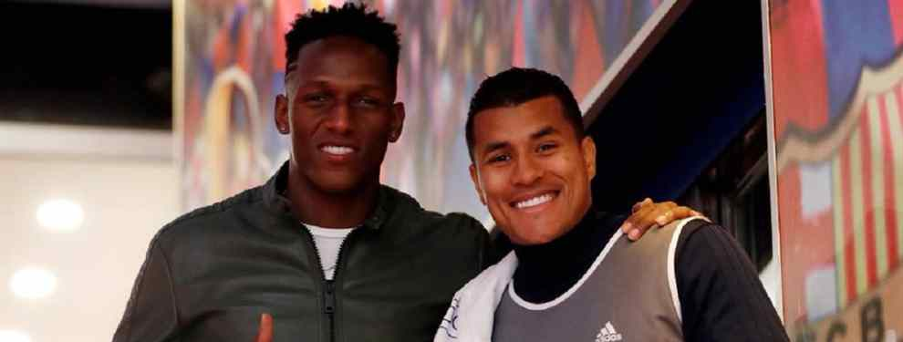 Yerry Mina es, ante todo, un gran amigo. El colombiano, actualmente en el Everton, no desperdició la oportunidad para felicitar a su compatriota, Jeison Murillo, por su fichaje por el Barça.