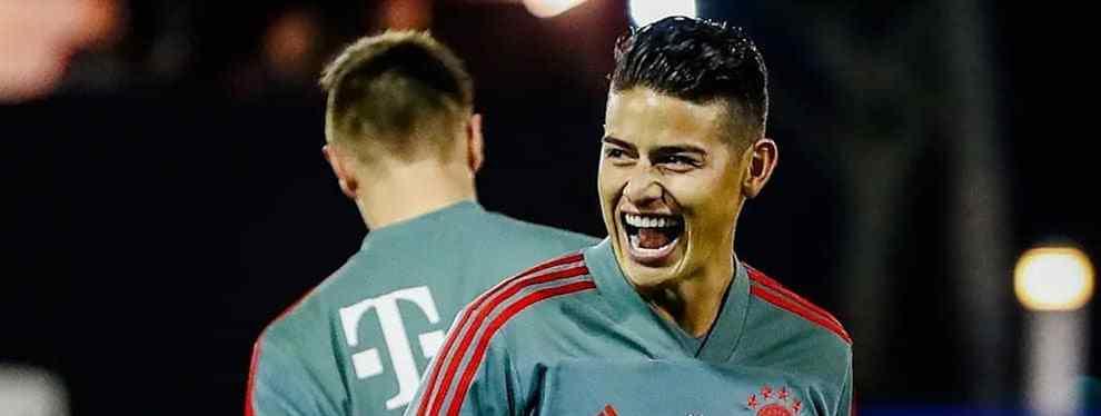 James Rodríguez recibe una llamada bomba (y no es el Arsenal) para dejar el Bayern de Múnich